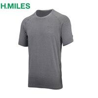 Hmilesメンズ水分吸上半袖tシャツfitnesssトレーニングtシャツベース層アスレチックランニングドライフィットワークアウト軽