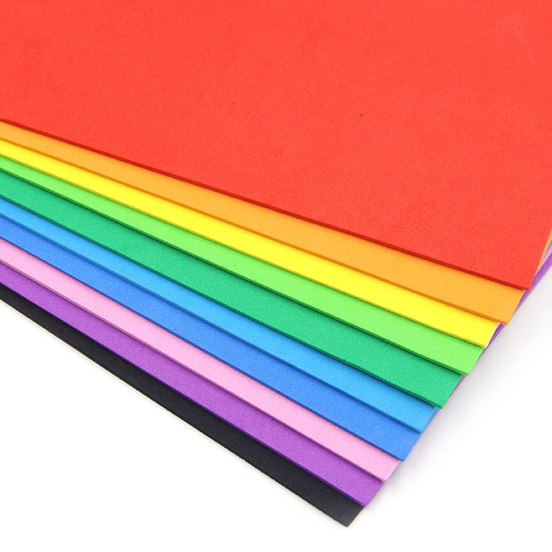10PCS 10Colors 20cm x 30cm A4 EVA Sponge Papers-Colorful Foam Paper for Kindergarten Handmade DIY Accessories 10 Colors