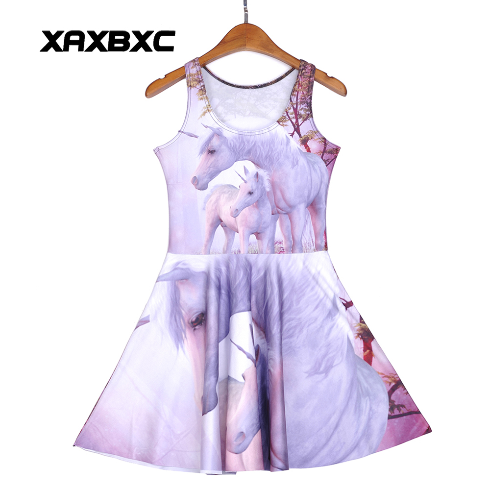 a5270b87b5f NEW 1222 Sexy Girl Women Summer Holy unicorn Angel God Horse 3D Prints  Reversible sleeveless Skater