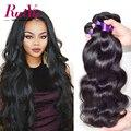 7A Peruana Virgin Hair Body Wave 4 Bundles Peruana Cuerpo Pelo Virginal de la onda Mejor Cuerpo Pelo Peruano Bundles Cabello Humano extensiones