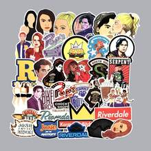 35pc/Lot Funny Riverdale Graffiti Anime Stickers Scrapbooking Toys For Children Motorcycle Guitar Skateboard Waterproof Stickers(China)