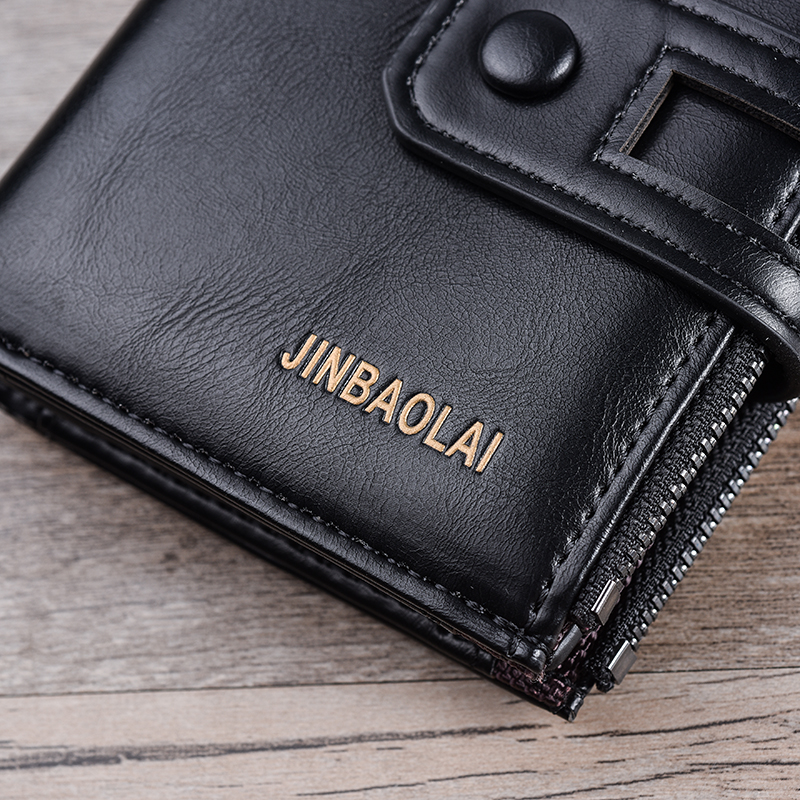 HTB16qTgB2uSBuNkHFqDq6xfhVXaA - JINBAOLA Men Wallet Brand Wallet Double Zipper&Hasp Design Small Wallet Male High Quality Short Card Holder Coin Purse Carteira