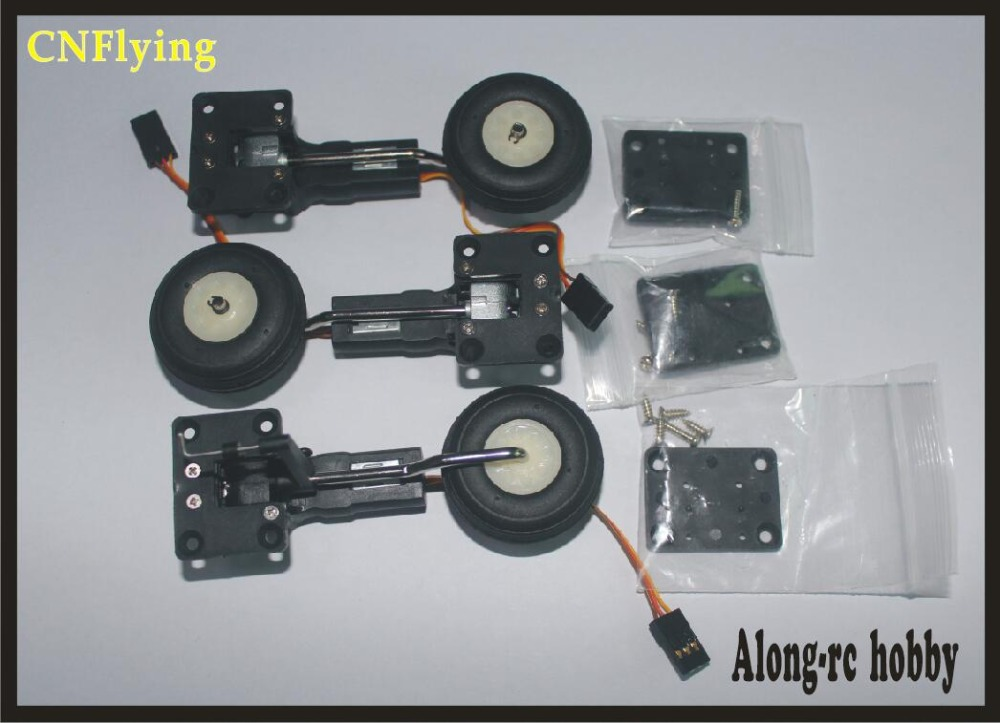 free shipping 25g retractable landing gear servo with wheel for RC hobby plane model airplane RC model spare part