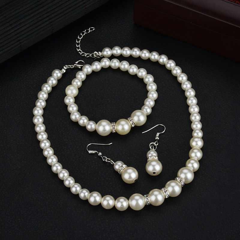 Joyería Africana moda personalidad clásica salvaje perla collar novia traje al por mayor joyería conjuntos Parure Bijoux Femme