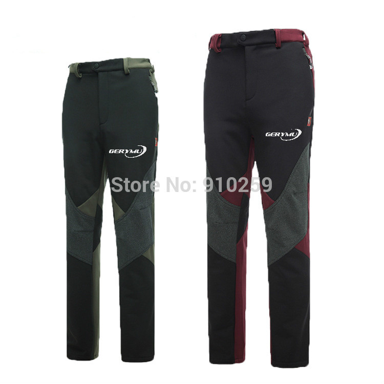 ФОТО Waterproof Hiking Military Track Pants for Outdoor Sports Softshell Men Winter Camping Climbing & Fishing