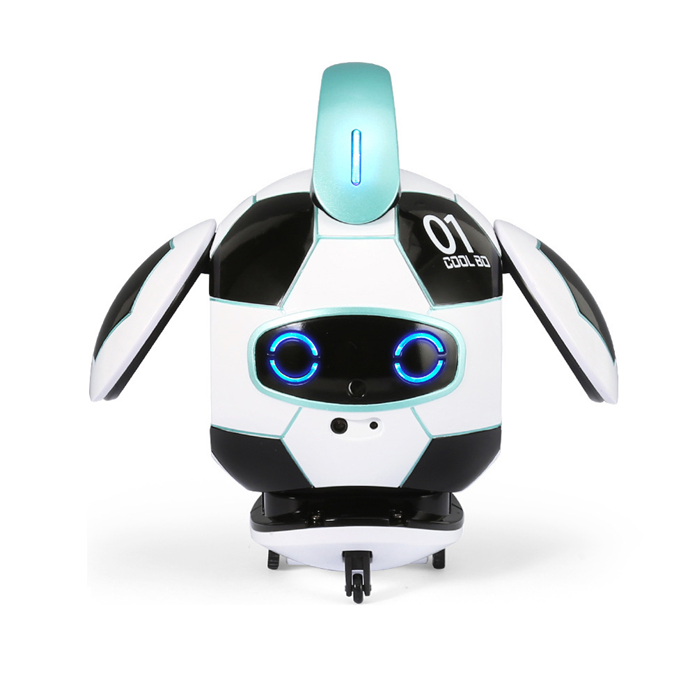 J01 Funny Interactive Cute Mini Electric Soccer Shape Sing Robot Touch Deformation For Child Gift Dancing Voice Control Toy