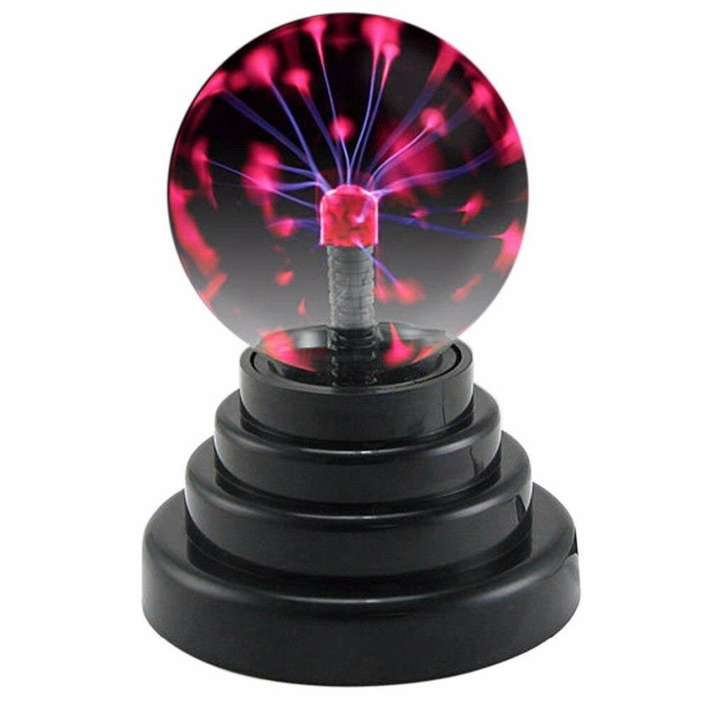 TRANSCTEGO Night Light USB Plasma Ball Magic Glass Lights Sphere Crystal Desktop Lightning Christmas Party Touch Sensitive Lamps
