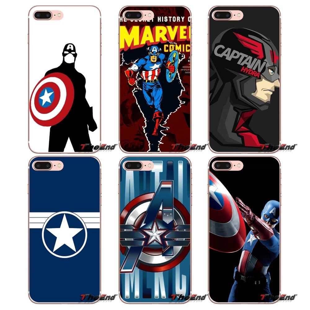marvel Captain America For Samsung Galaxy S2 S3 S4 S5 MINI S6 S7 ...