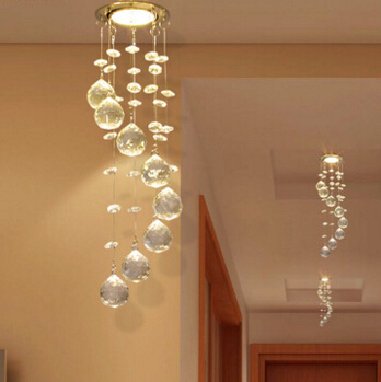 New Suspension Hanging Crystal LED 3W mini Ceiling Lamp Corridor Balcony Aisle Hallway Lights Living Room Indoor Lighting