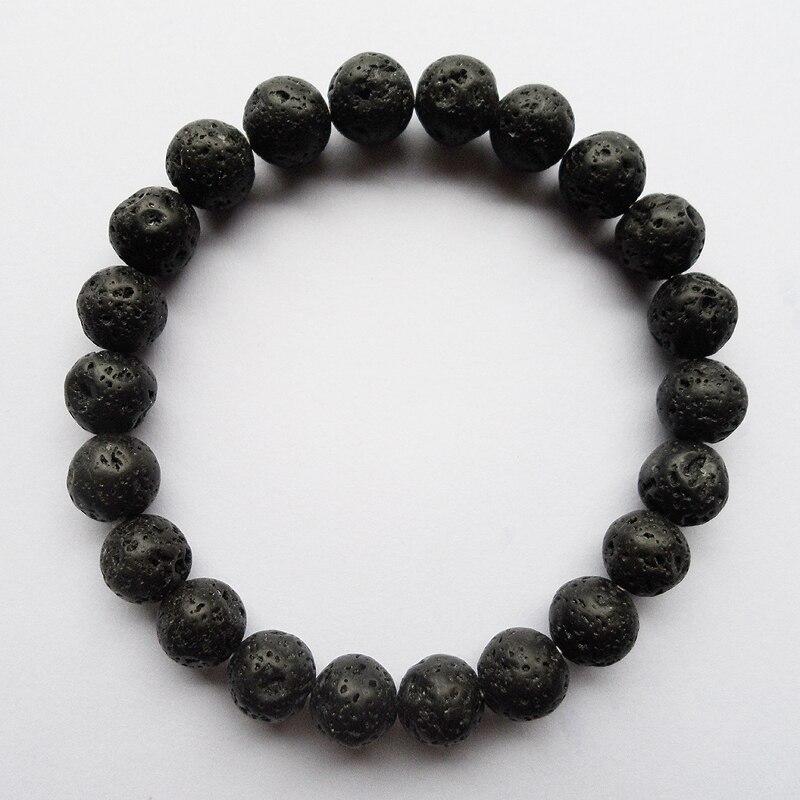 8MM Black natural volcano lava beads bracelet for man,Trendy Pure natural 8MM (22PCS) black Buddha strand beaded bracelets
