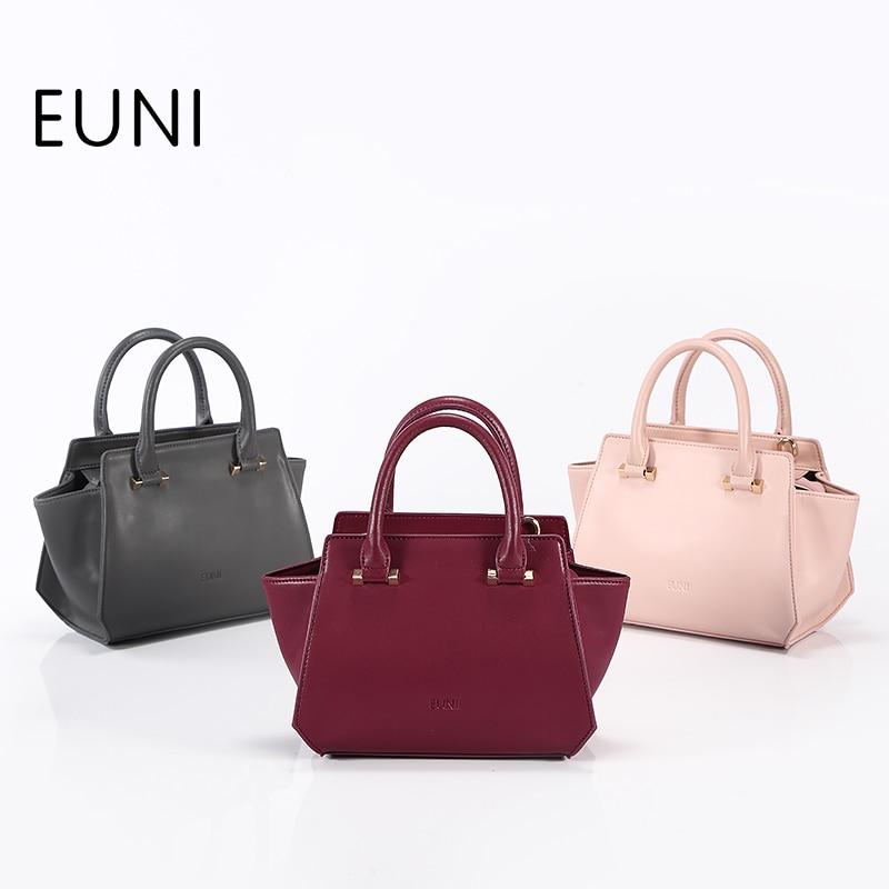 все цены на EUNI Brand Luxury Handbags Women Bags Designer Women Leather Handbags High Quality Luxury Tote Bag For Lady Leather Bag
