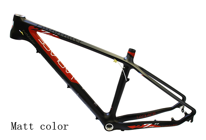Brand New LAPLACE 27.5*15/17'' Bicycle Frame Carbon Fiber MTB Bike Frame Outdoor Bike Bicycle Carbon Frame Laplace PATHFINDER 17 inch mtb bike raw frame 26 aluminium alloy mountain bike frame bike suspension frame bicycle frame