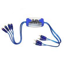 Универсальный шумоподавитель 4 канала RCA заземление петля изолятор шум фильтры для автомобиля аудио
