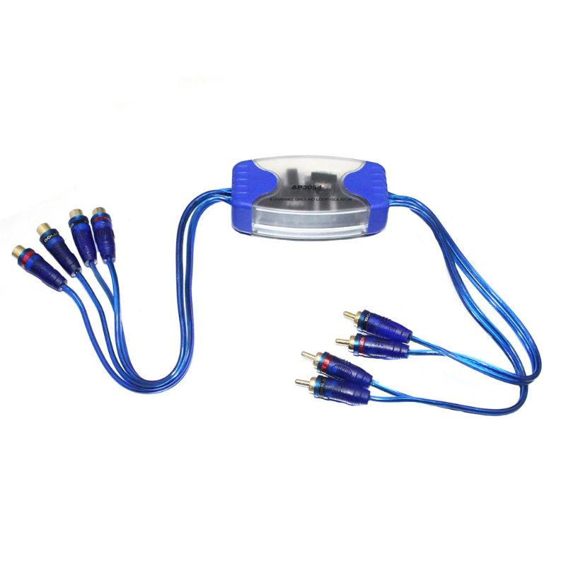 Universal Noise Sound Eliminator 4 Channel RCA Ground Loop Isolator Noise <font><b>Filters</b></font> For <font><b>Car</b></font> <font><b>Audio</b></font> image