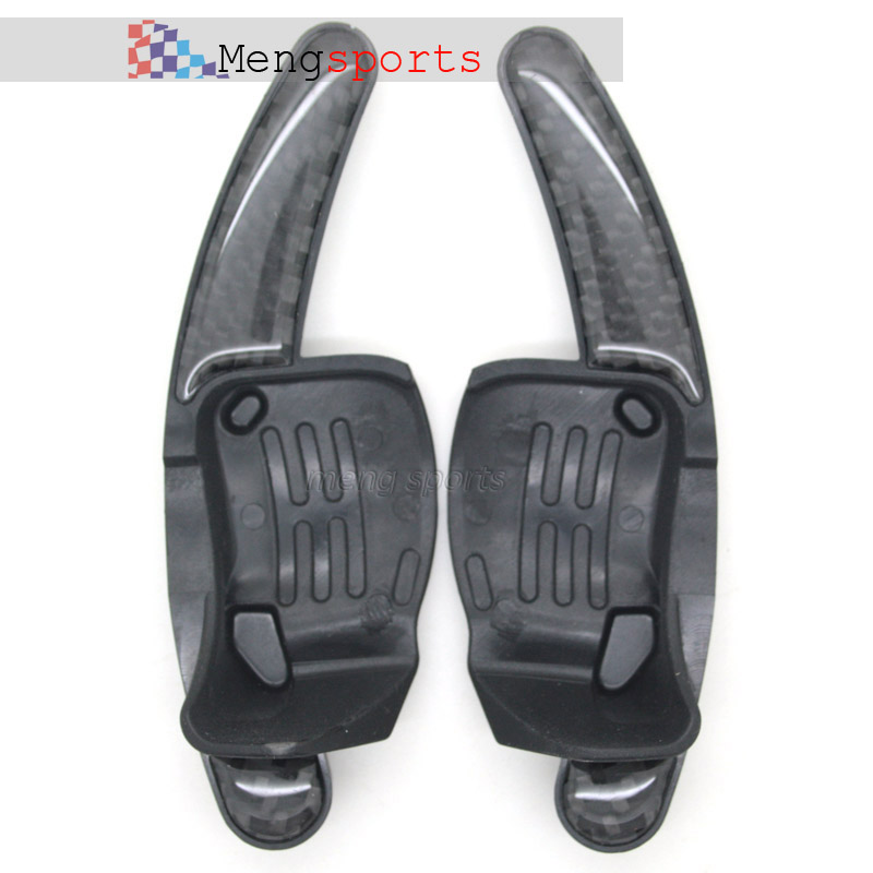 20pcs Real Black Carbon Fiber For Golf 6/GTI/R20 Stainless Steel Steering Wheel Shift Paddles Car Styling Embelm Shipping Free