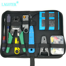 Professional  RJ45 RJ11 RJ12 CAT5 CAT5e CAT6 Portable LAN Network Repair Tool Kit Utp Cable Tester AND Plier Crimp Crimper Plug
