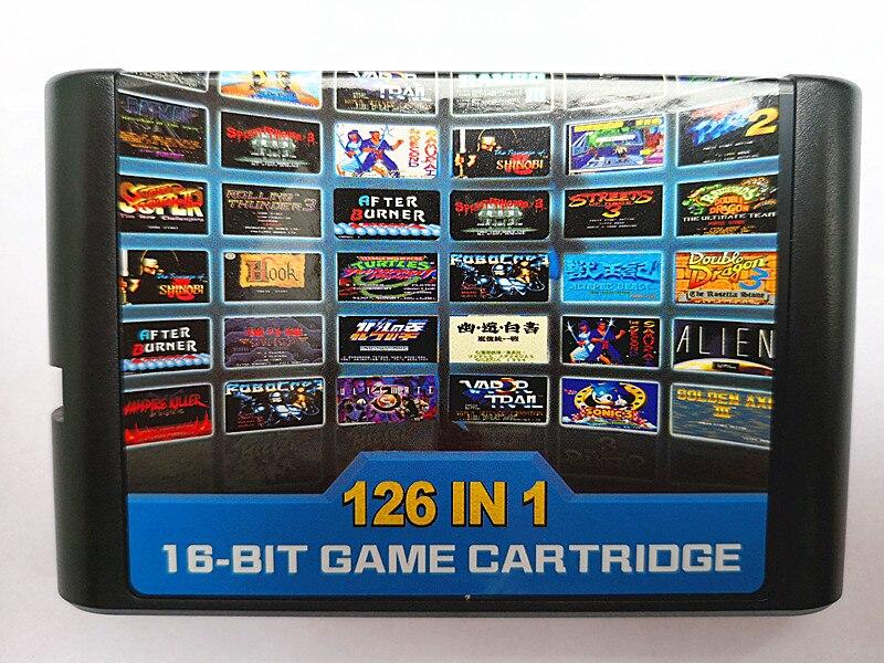 126 em 1 para sega megadrive genesis cartão de jogo com super marioed batman & robin batalha mania contra sonic shinobi pulseman