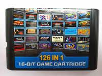 126 en 1 para la tarjeta de juego Sega megadive Genesis con Super Marioed Batman y Robín Battle manía Contra Sonic Shinobi Pulseman