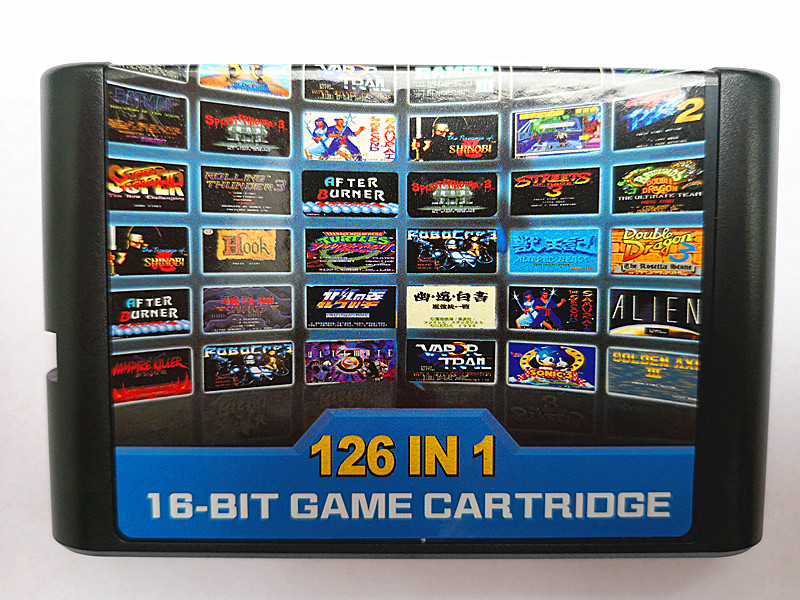 126 in 1 for Sega Megadrive Genesis Game card with Super Marioed Batman  amp  Robin Battle Mania Contra Sonic Shinobi Pulseman