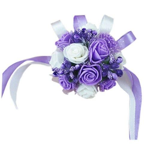 4 Pcs New Wrist Corsage Bracelet Bridesmaid Sisters Hand Flowers Wedding Party Bridal Prom Accessories Fx526 1