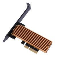 NGFF M 2 Key M SSD To PCI E 4X Adapter Card With Heatsink Computer Adapter