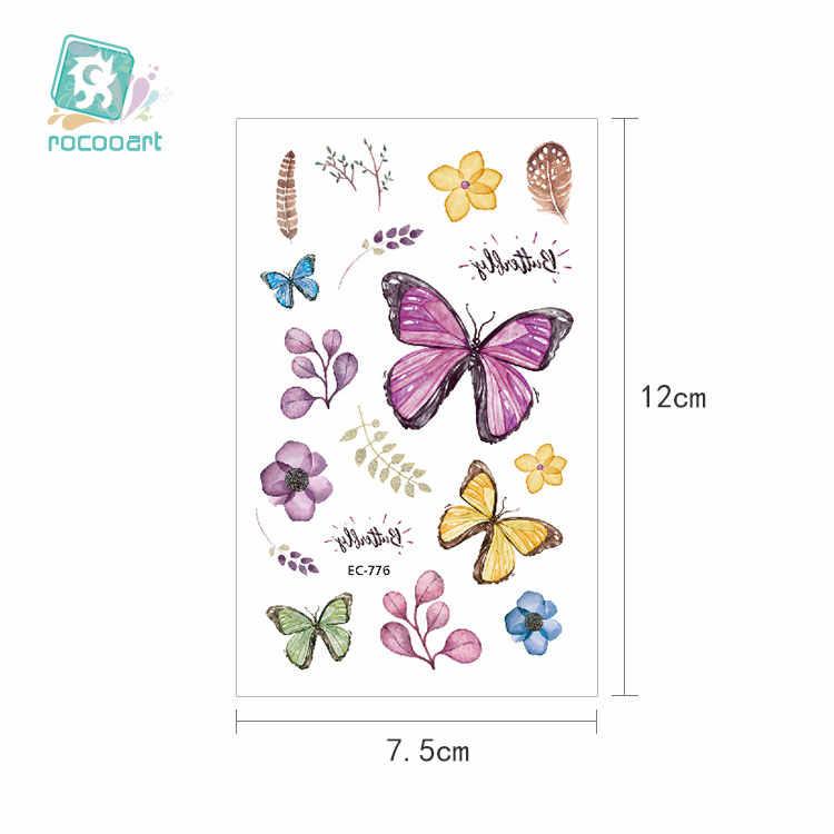 12 × 7.5 センチメートル/水彩蝶一時的なタトゥーステッカー防水女性フェイクタトゥー子供ボディーアートホットデザインのファッション。