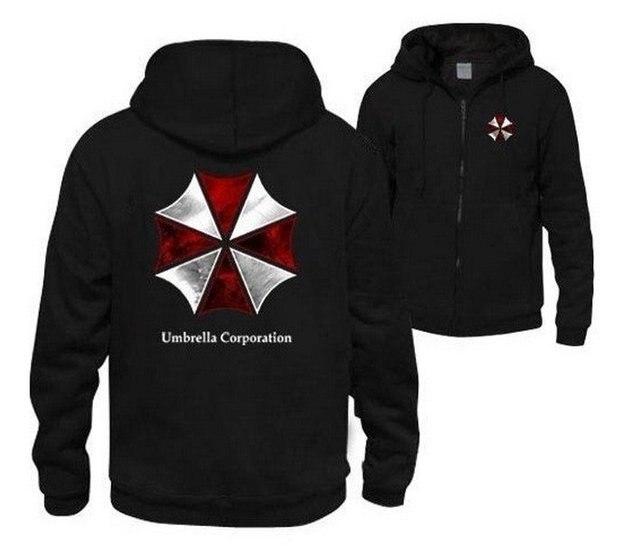 96212373f Biohazard Umbrella Corporation Resident Evil Jaqueta Casaco Moletom Com  Capuz