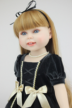 45cm American girls doll long hair vinyl princess doll toys with clothes and accessories girls brinquedos