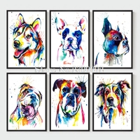 Animals Home Decoration 5D Diy Diamond Painting Resin Full Diamond Mosaic Embroidery Needlework Watercolor Painting Art
