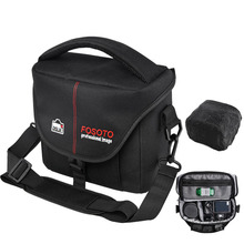 FOSOTO DSLR Camera Bag Fashion Polyester Shoulder Bag Waterproof Camera Case For Canon Nikon Sony Lens Pouch Bag Photo Video bag все цены