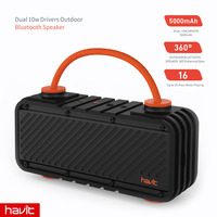 HAVIT Waterproof Shockproof Outdoor Bluetooth Speaker 20W Dual Driver Wireless 4 2 Portable Sport Speaker Support