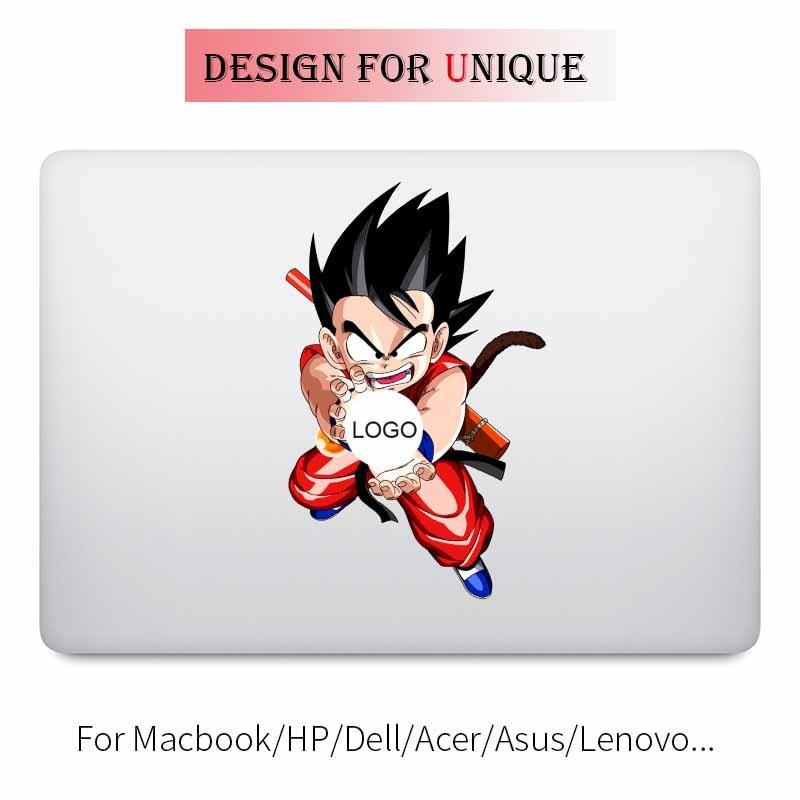 Goku Kamehameha Dragon Ball Laptop Sticker for Apple Macbook Decal Pro Air Retina 11 12 13 15 inch Vinyl Mac Surface Book Skin