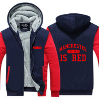 United Kingdom Red Letter Hoodies Men Cotton Manchester Brand Fashion Sweatshirts Casual Slim Fit Zipper Hoodies
