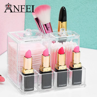 ANFEI Storage Box For Cotton Swabs With Lipstick Holder Buy One Piece For Two Purposes Easy