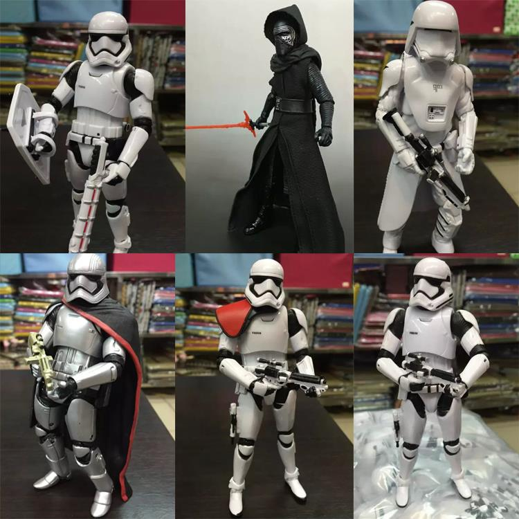 High Quality Original Star Wars The Force Awakens Kylo Ren Stormtrooper Phasma PVC Action Figure Collectible Model Toy KT1892 10cm nendoroid star wars toy the force awakens stormtrooper darth vader 501 502 pvc action figure star wars figure toys