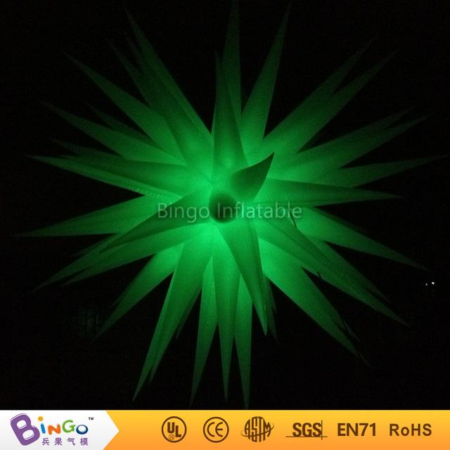 Decoración del partido inflable verde estrellas colgantes Dia.2.4m iluminación decoración Juguetes del Light-Up