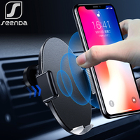 SeenDa Infrared Sensor Intelligent Qi Wireless Charging 10W Fast Car Charger For iPhone Xs Max XR Huawei Samsung Black Friday