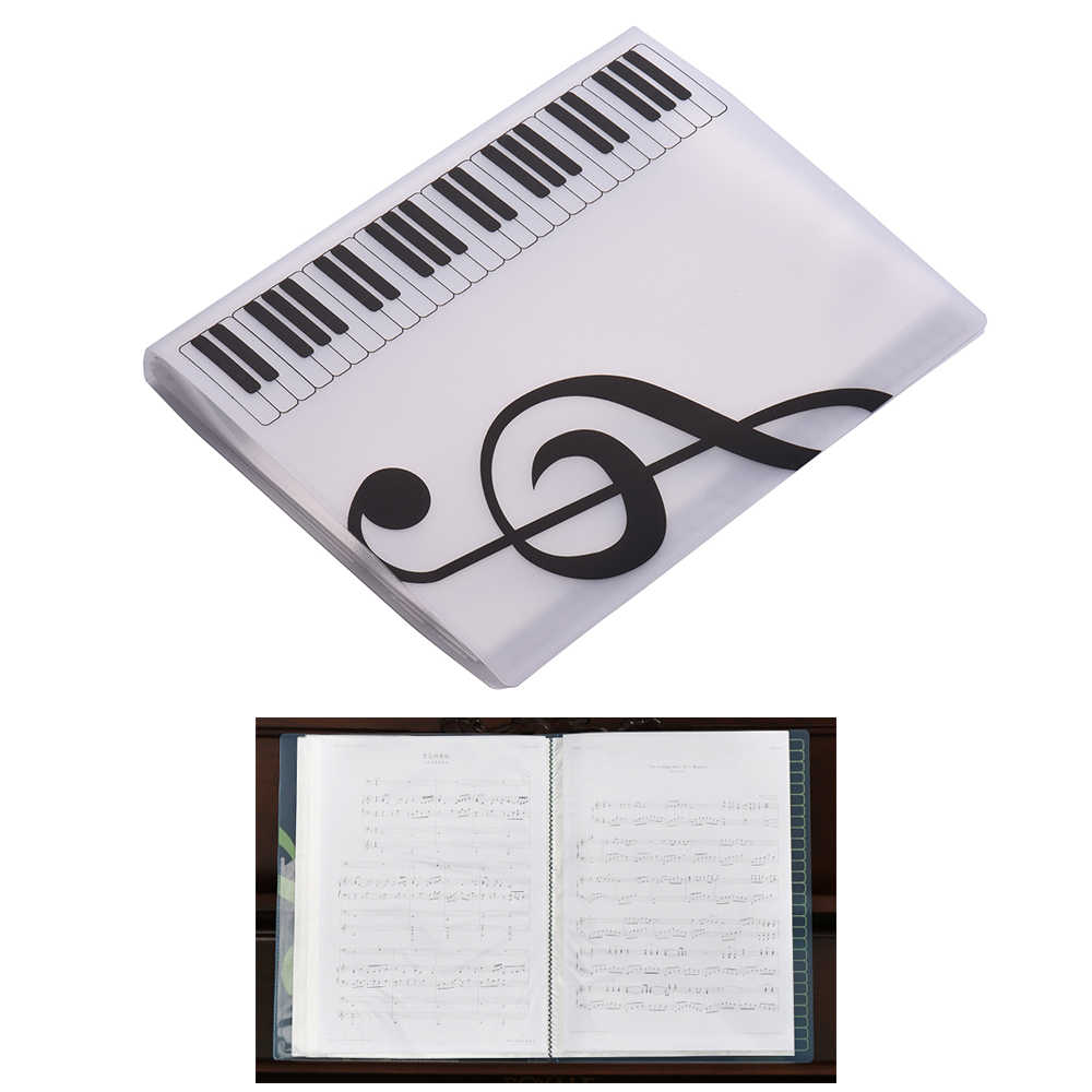 A4 Size Music Folder Music Score Paper Sheet Note Document File Organizer Folder Holder Case 40 Pockets