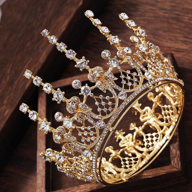 New Vintage Romantic Gold Full Round Wedding Tiara Crown Crystal Princess  Pageant Headpieces Bridal Wedding Hair Jewelry Crowns - aliexpress.com -  imall.com f840a2e42357