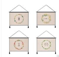 pastrol simple flowers printed tapestry cotton linen haning blanket household decor wall cover home decor