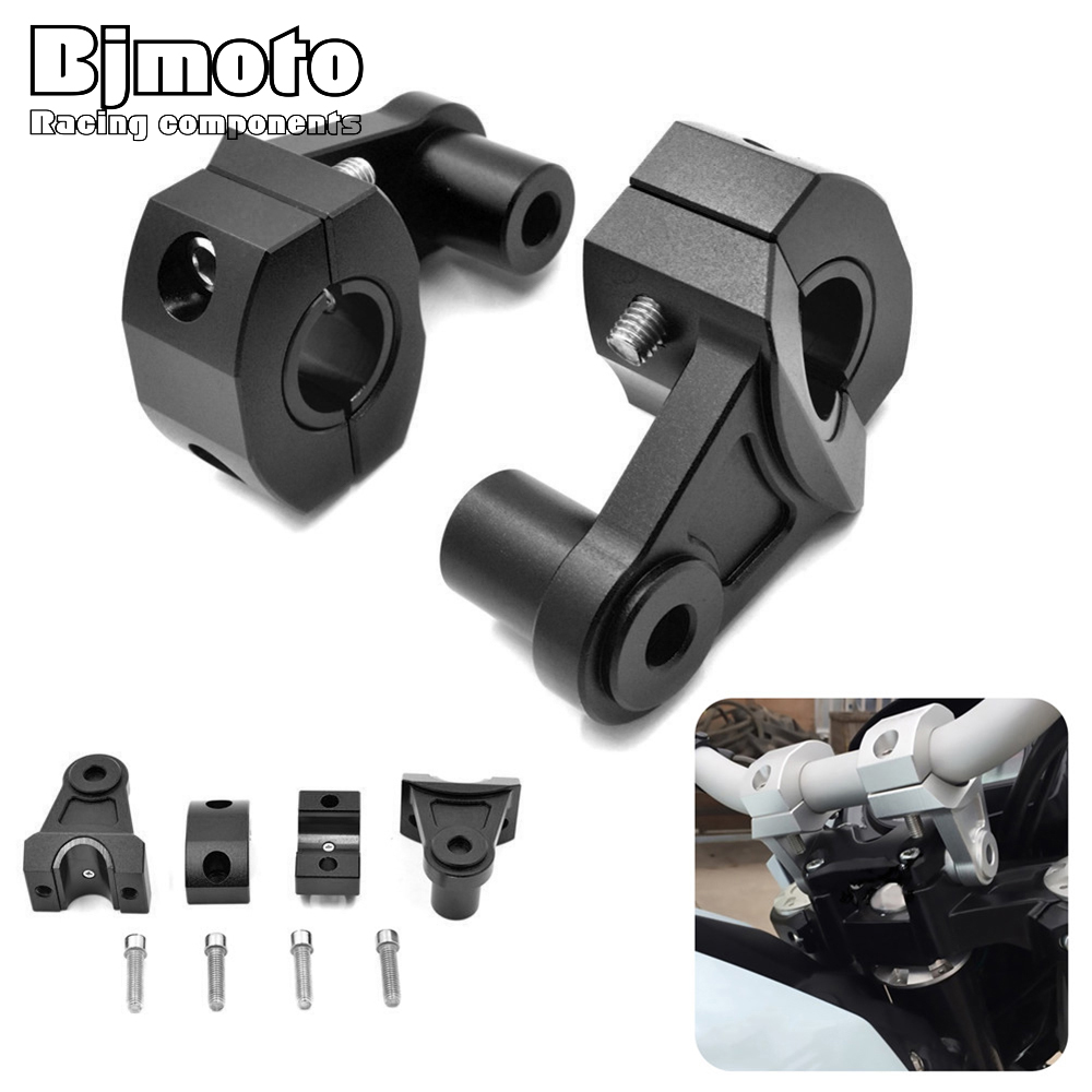 Bjmoto Universial Motorcycle Handlebar Riser Clamp For Honda Kawasaki Suzuki Yamaha KTM dirt bikes ATV 22mm handlebars Mounts