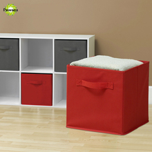 solid foldable nonwoven fabric cube storage box bins closet organizer toys container drawers clothes