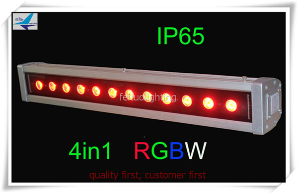 20pcs/lot Outdoor 12*10w led strip bar rgbw 4 in1 wall washer quad led light bar outdoor led wall washer 9ledx3w uv wall washer led stage bar light for outdoor indoor decoration