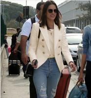 Pale Pink Blazer Wear to Work Office Lady Tops Clothing Fall Women New Button Design Blasers 2018 Spring Fashion Coat Chaquetas