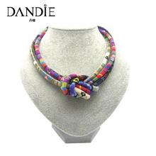 Dandie Hot Sale Woven Knot Design Chocker Necklace, Womens Fashion Jewelry, Chic Style