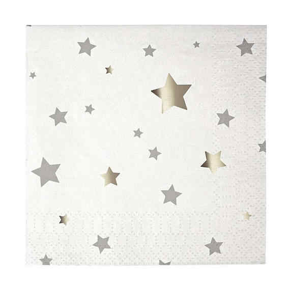 Estrelas de prata Tablewares Descartáveis Pratos De Papel Do Partido Palhas Copos Jantar Guardanapo De Madeira Colher/Faca/Garfo com Cromo Estrela balão