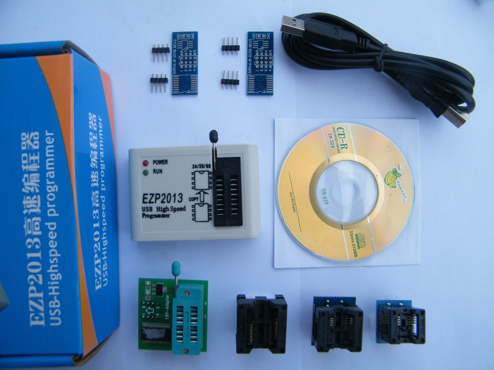 ФОТО Full set EZP2013 +1.8v adapter + 5 socket, update EZP2010 25T80 bios High Speed USB SPI Programmer