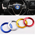 1pcs Steering Wheel Trim Cover Ring Decoration Sticker Aluminum Fit For Jeep Cherokee/Grand Cherokee 2014 2015 2016