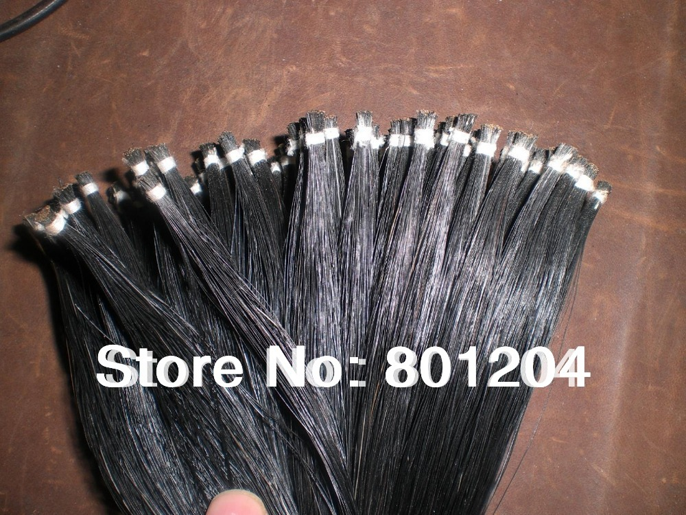 40 Hanks Black Violin Bow hair 32 inches, 6 grams each hnak 60 hanks stallion white bow hair including 30 hanks black