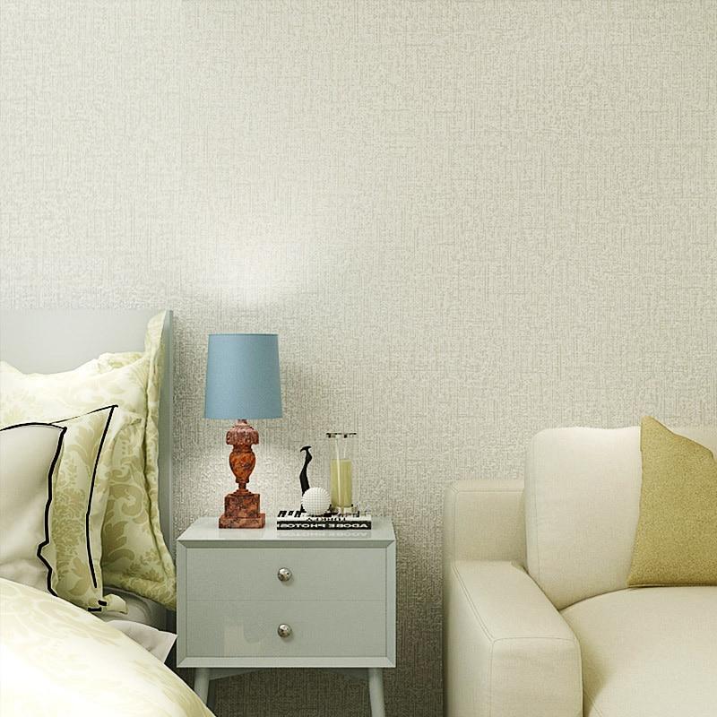 Moderne Pure Kleur Geweven Behang Kamer Slaapkamer Wit Beige Koffie ...